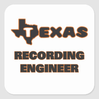 Texas Recording Engineer Square Sticker