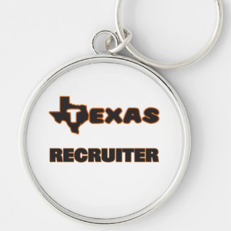 Texas Recruiter Silver-Colored Round Key Ring