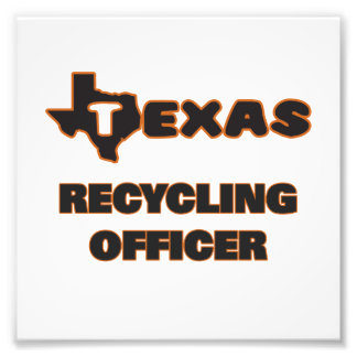 Texas Recycling Officer Photo Print