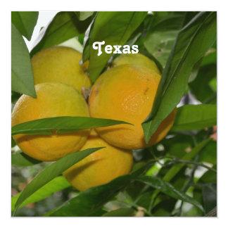 Texas Red Grapefruit 5.25x5.25 Square Paper Invitation Card