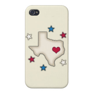 Texas Red Heart iPhone 4 Case
