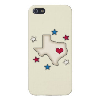 Texas Red Heart Covers For iPhone 5