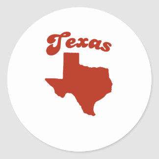 TEXAS Red State Classic Round Sticker