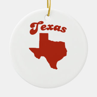 TEXAS Red State Christmas Tree Ornament