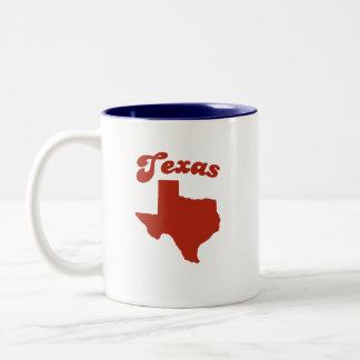 TEXAS Red State Two-Tone Coffee Mug