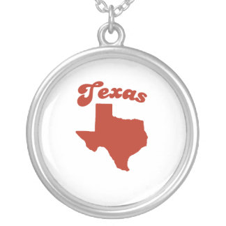 TEXAS Red State Round Pendant Necklace