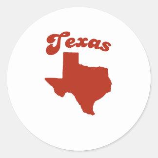 TEXAS Red State Round Sticker