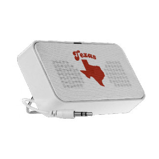 TEXAS Red State Portable Speakers