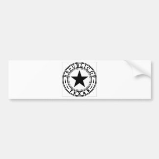 Texas (Republic of Texas Seal) Bumper Sticker