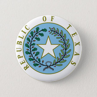 Texas (Republic of Texas Seal Color) 6 Cm Round Badge