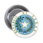 Texas (Republic of Texas Seal Colour) Buttons
