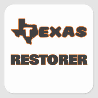 Texas Restorer Square Sticker