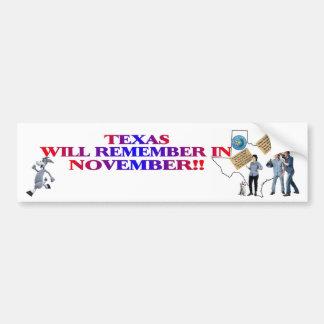 Texas - Return Congress To The People!! Bumper Sticker