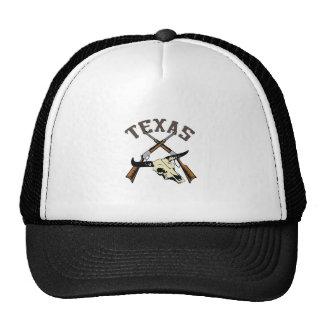 TEXAS RIFLES AND SKULL TRUCKER HATS