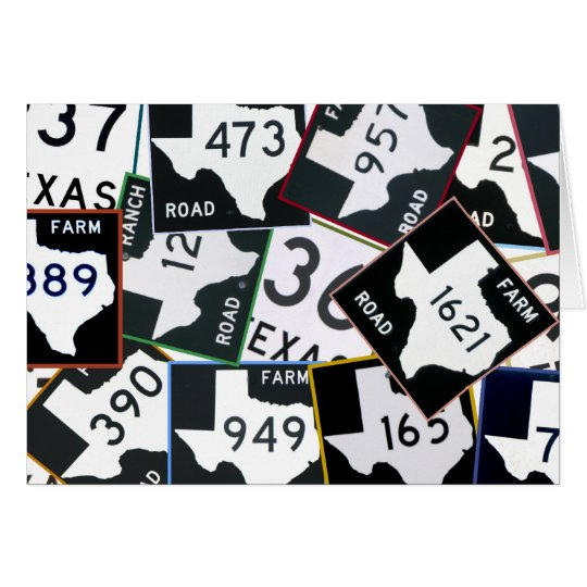 Texas Road Signs Card