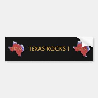 texas rocks bumper sticker