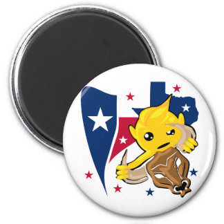 Texas Rodeo Smiley 6 Cm Round Magnet