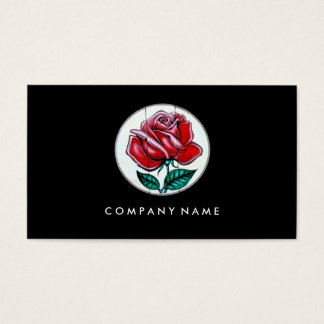 Texas Rose Art Fresco Style Business Card