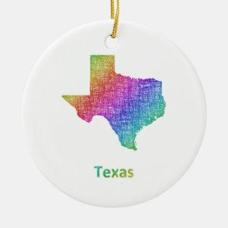Texas Round Ceramic Decoration