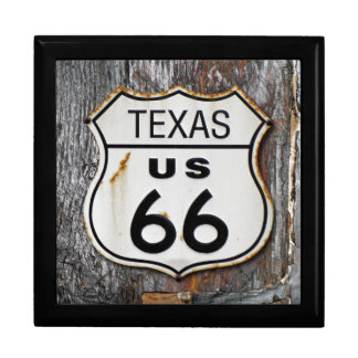 Texas Route US 66 Large Square Gift Box