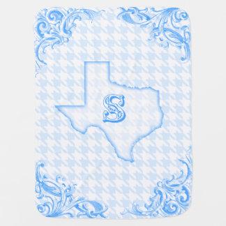 "Texas ""S"" Blue Baby Blanket"