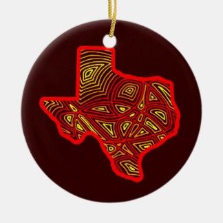 Texas Scribbleprint Art Christmas Ornament
