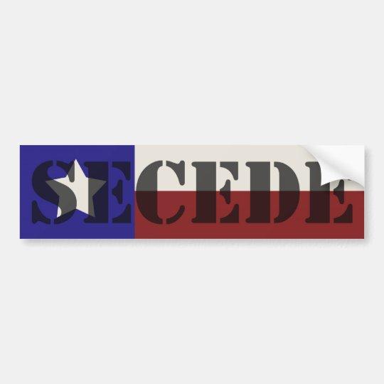 Texas SECEDE bumper sticker