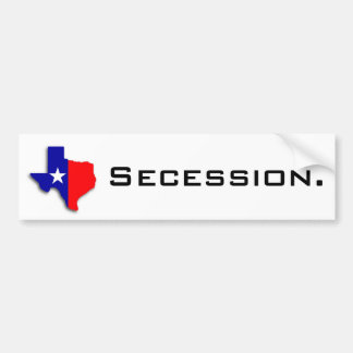 Texas Secession Secede Bumper Sticker