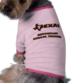Texas Secondary School Teacher Ringer Dog Shirt