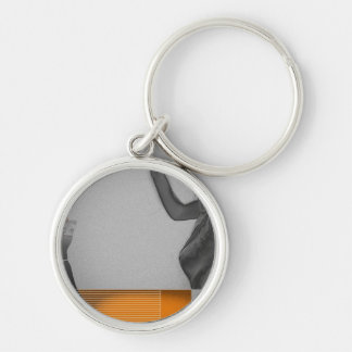 Texas Silver-Colored Round Key Ring