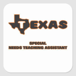 Texas Special Needs Teaching Assistant Square Sticker