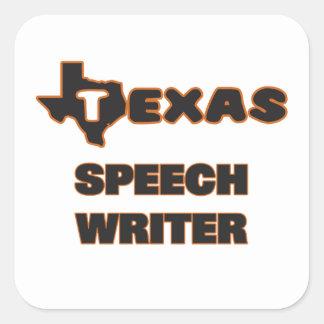 Texas Speech Writer Square Sticker