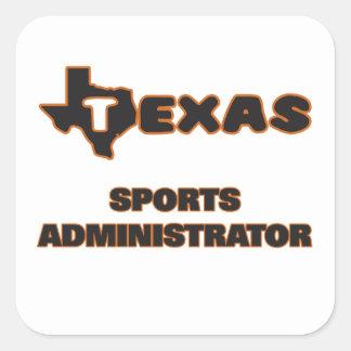 Texas Sports Administrator Square Sticker