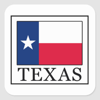 Texas Square Sticker