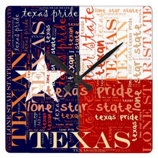 Texas Square Wall Clock