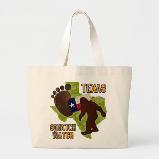 Texas Squatch Watch Large Tote Bag