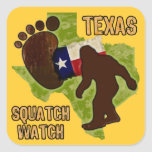 Texas Squatch Watch Square Sticker