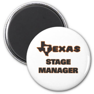 Texas Stage Manager 6 Cm Round Magnet