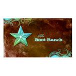 Texas Star Business Card Brown Blue Jewellery