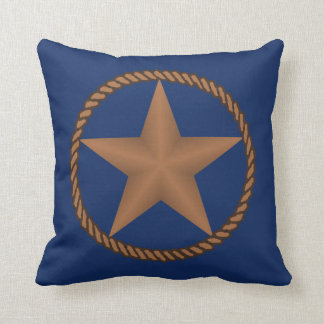 Texas Star With Rope  Pillow ANY COLOR