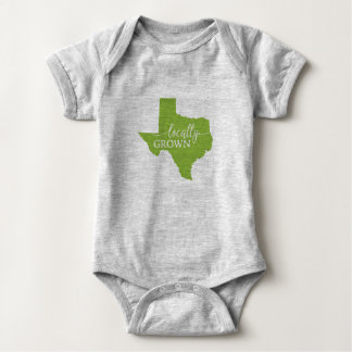 Texas State Bodysuit, Locally Grown in Texas Baby Bodysuit