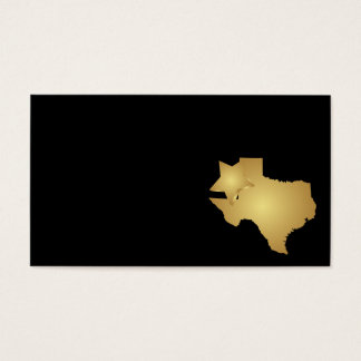 Texas State Business Card Metallic Gold