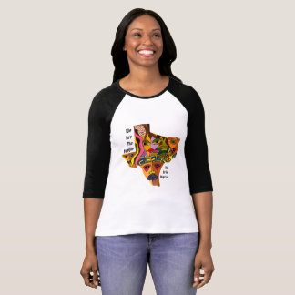 Texas State Colorful Faces of Freedom by Deprise T-Shirt