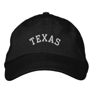 Texas State Embroidered Embroidered Baseball Cap