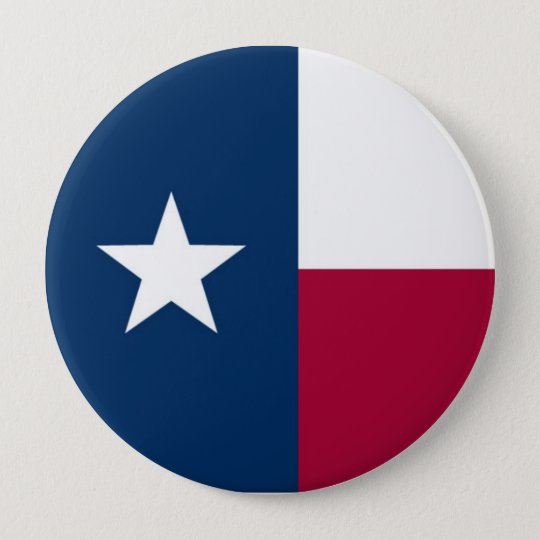 Texas State Flag 10 Cm Round Badge