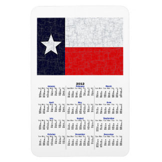 TEXAS STATE FLAG 2012 Calendar Magnet