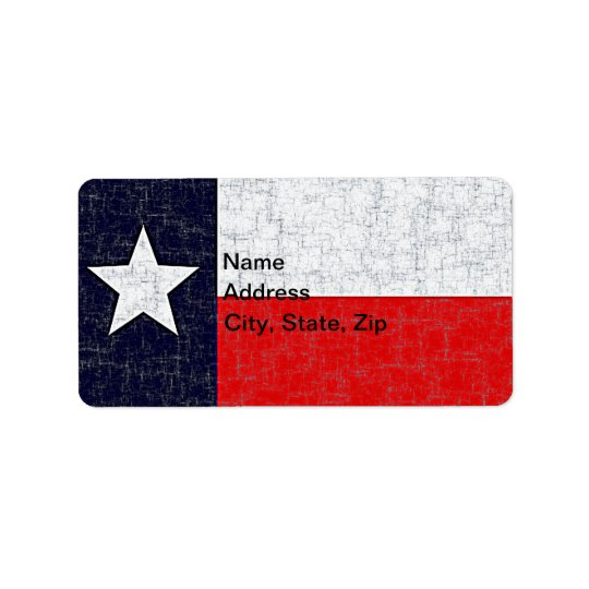 TEXAS STATE FLAG ADDRESS LABEL