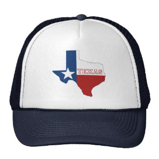 Texas State Flag and Map Mesh Hats