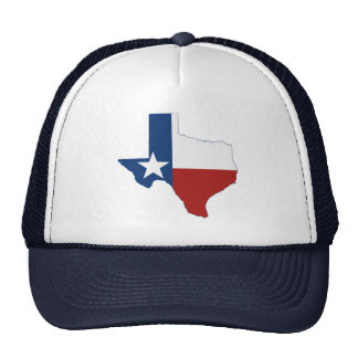 Texas State Flag and Map Trucker Hats
