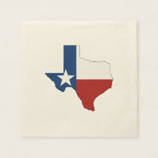 Texas State Flag and Map Paper Napkin